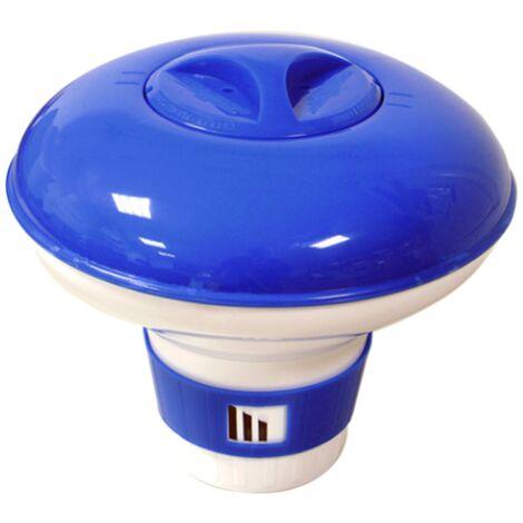 Siqua Dispensador Grande Cloro Flotante. Dosificador automático de cloro para piscinas. Kit Mantenimiento Piscinas y Spa. Capacidad para 13-15 Pastillas de 200g