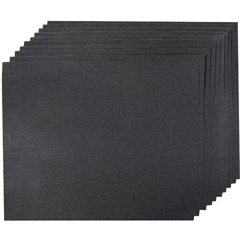 10 feuilles abrasives pour ponçage sec ou humide Choix du modèle Grain 180