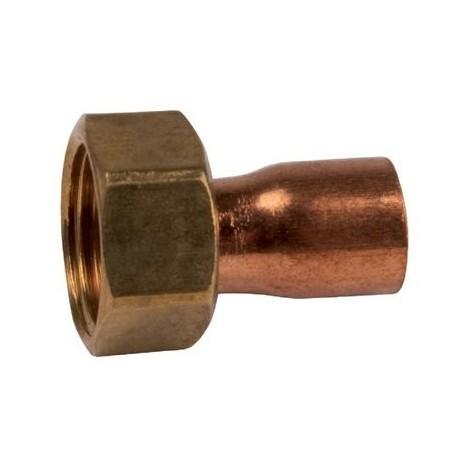 Raccord cuivre droit 2 pièces Femelle écrou libre