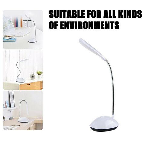 Lampe de bureau à LED, protection des yeux rotative à 360 degrés, livre de lecture, lampes de bureau