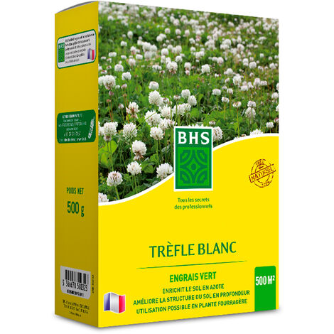 TRÈFLE BLANC - La boîte de 500 g pour 500 m2 - Semences Fourragères Légumineuses