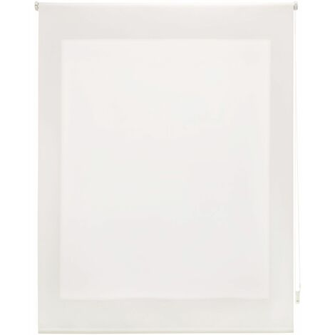 Estor enrollable translúcido liso crudo 160x175 cm (ancho x alto)