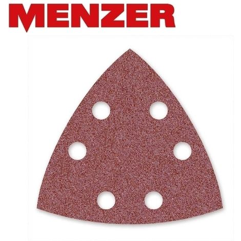 Silverline 724443 Lot de 10 Triangles abrasifs treillis auto-agrippant 140 x 100 mm grain 180