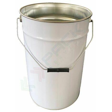 Secchio in metallo conico 23,4 Lt, Mis. Ø sup. 292 x Ø inf. 275 x 380 H mm, omologato ONU per liquidi, con manico, interno grezzo