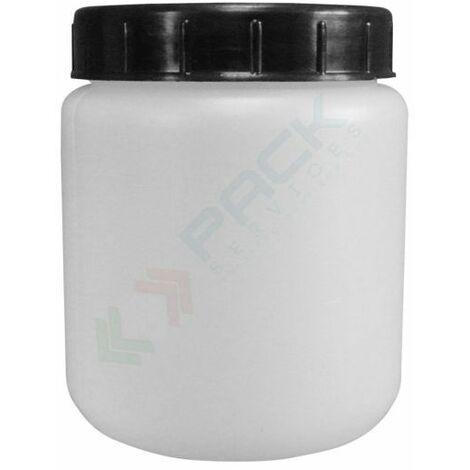Barattoli in plastica (HDPE) cilindrici, chiusura con tappo a vite e sottotappo (inclusi)