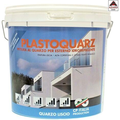 Pittura al quarzo per esterno interno 14 lt litri murale bianca opaca - Bianco