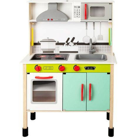 WOOMAX - Jouet de cuisine en bois avec son et lumière 70x31x104 cm