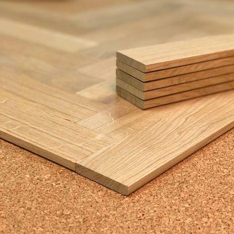 Planchette Chêne brut Grade A 50x250 | 1.25 mètre carré