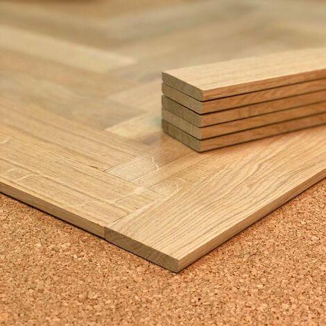 Planchette Chêne brut Grade A 55x250 | 1.38 mètre carré