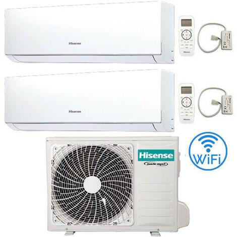 Climatizzatore Condizionatore Hisense New Comfort con Wifi R32 Dual Split Inverter 9000 + 12000 BTU con U.E. 2AMW42U4RRA Classe A++/A+ | 138395-defaultCombination