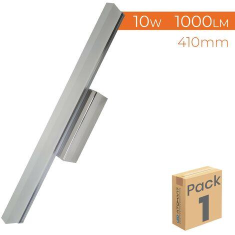 Aplique LED para baño cromado 40cm 10W 1000LM 6500K A++   Blanco Frío 6500K - Pack 2 Uds. - Blanco Frío 6500K