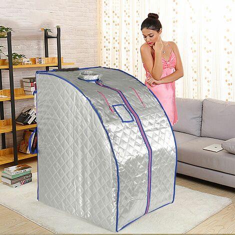 BATHRINS®Sauna a infrarossi,Box sauna confortevole-Silver,Con 4 piastre riscaldanti (standard europeo),Beauty