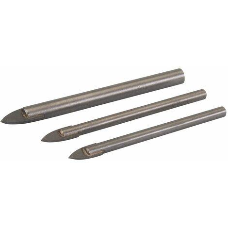 Tile & Glass Drill Bit Set 3pce - 5, 6 & 8mm
