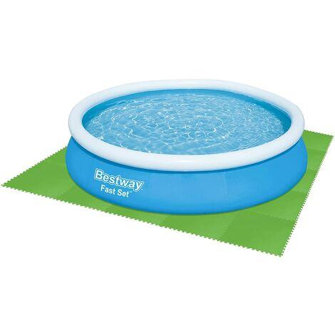 BESTWAY Bodenplatten Poolbodenschutz 9x (78x78cm) 5m², 58636