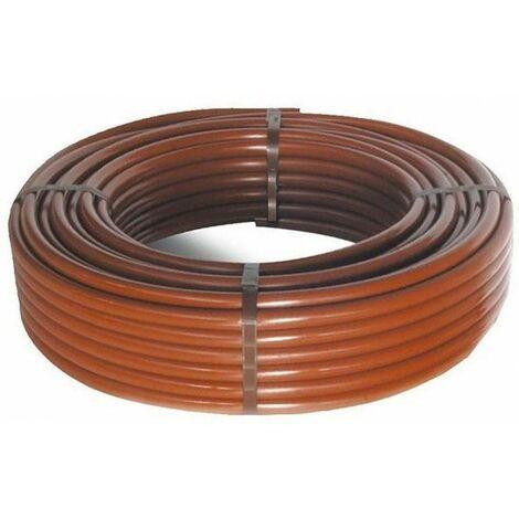Tubo in polietilene 16mm 100 metri marrone senza gocciolatori