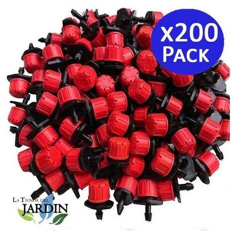Gocciolatore rosso regolabile da 0 a 70 l / h. 200 unit�