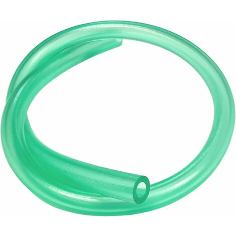 Durite essence tuyau silicone 7mm vert transparent carburant tondeuse tracteur débroussailleuse