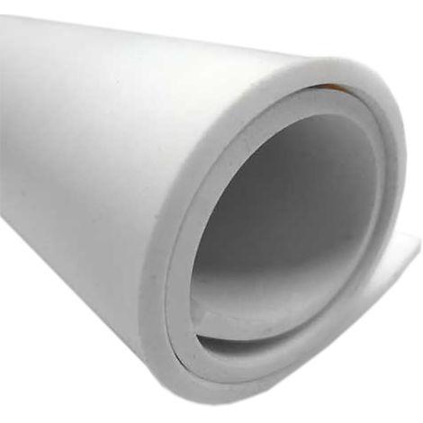 Feuille de caoutchouc EPDM Blanc, 2m x 3mm x 1m