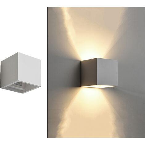 Applique lampada interno quadrato gesso bianco moderno doppia luce Dr GS-5019