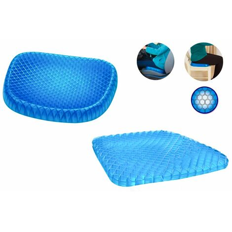 Cuscino gel antidecubito con fodera antiscivolo confortevole casa ufficio auto