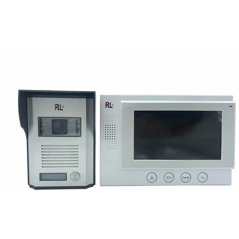 Kit videocitofono monofamiliare monitor 7'' TFT telecamera IR apriporta RL06M
