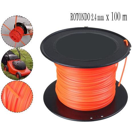 Filo di ricambio per decespugliatore 100m tondo 2.4mm bobina ricambio tagliaerba