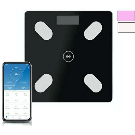 Bilancia pesapersone digitale bluetooth elettronica vetro portata 180 kg B24