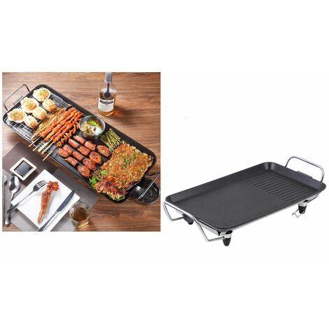 Griglia elettrica antiaderente 2000W barbecue da tavolo bistecchiera DMT-022