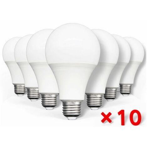 10Pz Lampadine led 15W E27 A65 bulbo latteo luce fredda illuminazione SOLAR