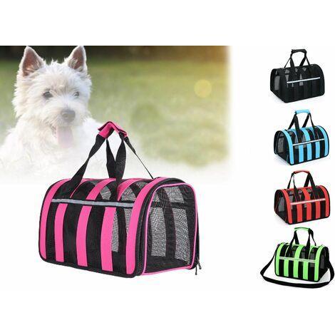 Trasportino cane gatto pieghevole traspirante borsa trasporto viaggio