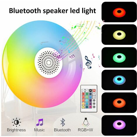 Lampadina led bluetooth UFO luce bianca rgb lampada 48W cassa altoparlante music