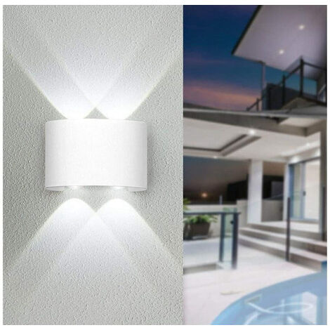 Applique LED Lampada da Parete Ovale 12W Luce Fredda Esterno Interno FD-10