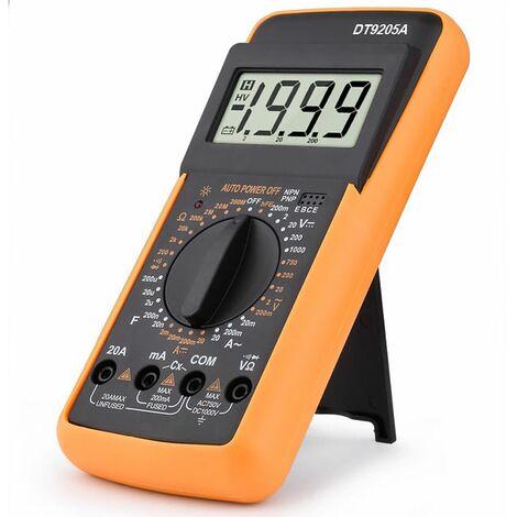 Tester multimetro digitale misuratore con puntali misuratore corrente DT9205A