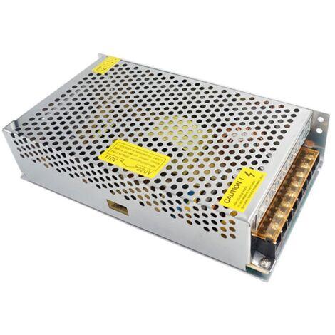 Alimentatore 12V 15A 220V trasformatore stabilizzato trimmer dissipatore interno