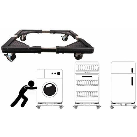 Base supporto frigo con ruote base mobile frigorifero lavatrice 54X54 a 61x61cm