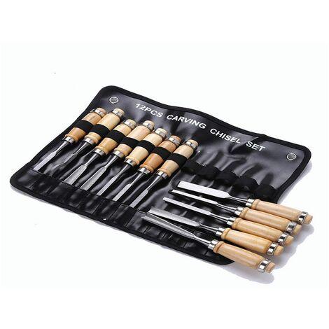 Set da 12pz scalpelli sgorbie per legno intaglio legno scalpellini