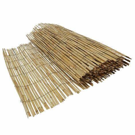 Cañizo en bambú natural Vara - 1,5 x 5 metros - Marrón