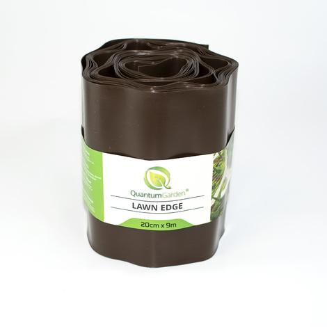 Flexible Plastic Lawn Edge 20cm x 9m in Brown Colour