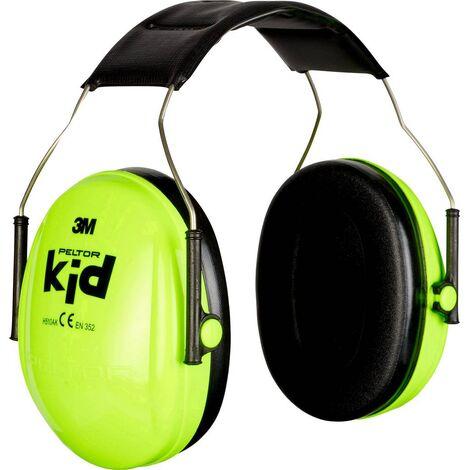 PELTOR Kapselgehörschützer Kid Neon-grün SNR 27 dB, KIDV