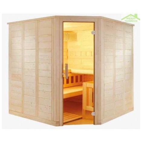 Cabine de Sauna WELLFUN LARGE de SENTIOTEC 206x206 cm
