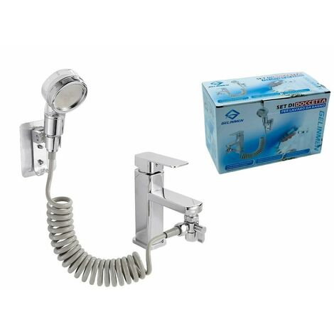 Set doccetta da lavabo per lavandino e bagno con doccia e tubo flessibile 3 IN 1