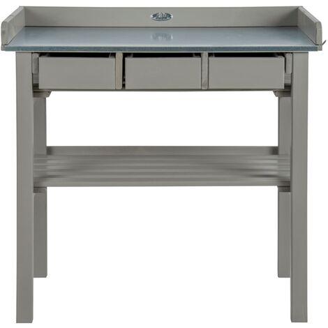 Esschert Design Tavolo da lavoro da esterno grigio - Grigio