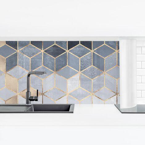 Rivestimento cucina - Bianco d'oro Geometria Blu