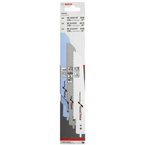 Bosch Saw Blade Set for PFZ 500 3 Pezzi