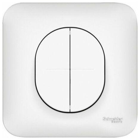 Ovalis combiné Va-et-Vient + poussoir 10A, Schneider Electric réf. S262285