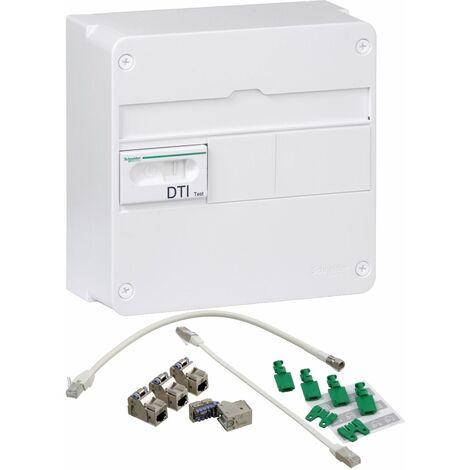 LexCom Home - Grade 2TV basic - 4xRJ45 cat 6 extensible à 8 DTIO 13M , Schneider Electric réf. VDIR390006