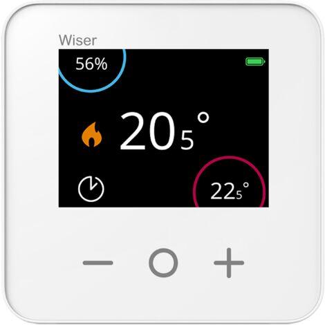 Wiser thermostat d'ambiance connecté avec 1 écran, Schneider Electric réf. CCTFR6400