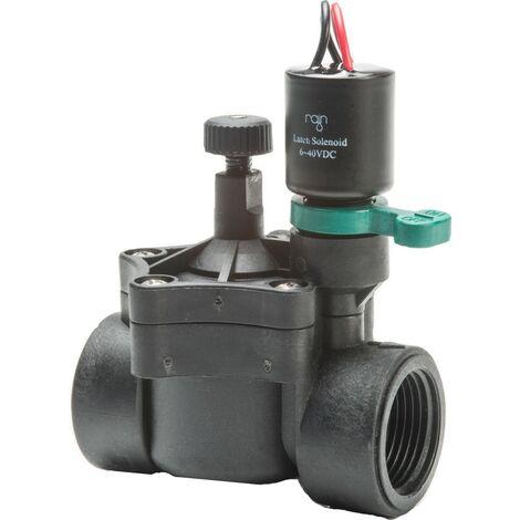 """Elettrovalvola irrigazione Rain 150 1"""" F-F 9 V volt bistabile e contr. di flusso"""