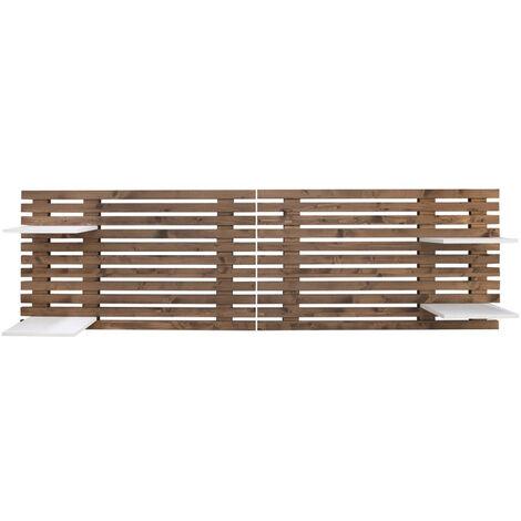 Tête de lit en lattes de bois vieilli 244x60cm