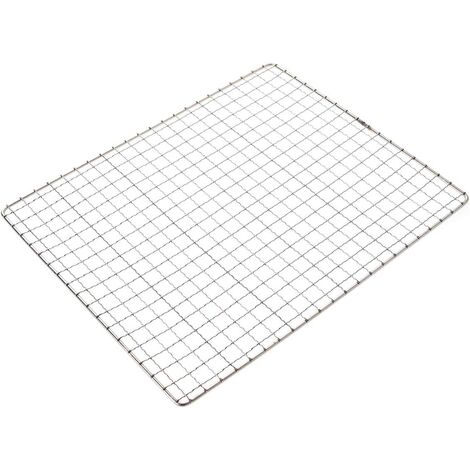 Squares stainless steel holes grill grill barbecue grill grill multifunction cooking grate Baking grid barbecue grid (26 x 32 cm)